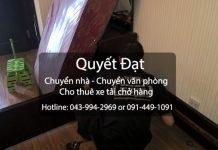 Chuyển nhà trọn gói Quyết Đạt tại phố Lương Văn Can