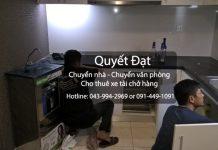 Chuyển nhà trọn gói Quyết Đạt tại phố Nguyễn Công Trứ